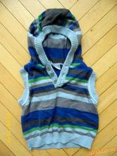 Úpletová vesta s kapucí, cherokee,56