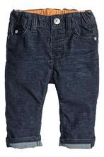 Modré manžestrové kalhoty h&m, velikost 80, h&m,80