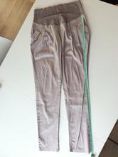 Elegantní béžové těhotenské kalhoty, vel. cca 40, 40