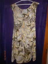 Hnědo- žluté (banánové) šaty, 38
