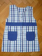 Plátěné šaty veselá nohavice, 86