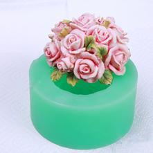 Silikonová forma růže s lístky xxl,