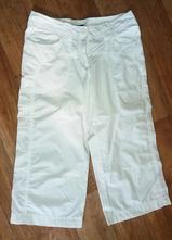 Běloučké kratší značkové letní kalhoty, h&m,38