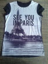 Bavlněné tričko paříž, c&a,40