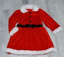 Vánoční červené sametové šaty, 86