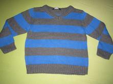 Pruhovaný svetr s výstřihem do v, george,98