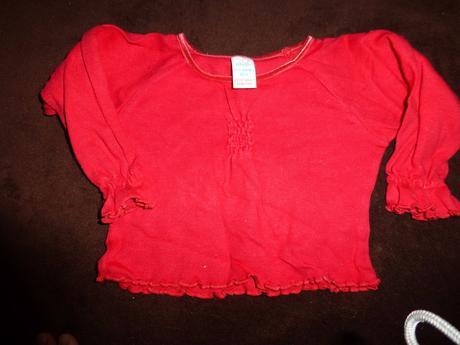 Červené tričko s nařasenými okraji, adams,80