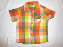 Nádherná oranžovožlutá kostičkovaná košile, f&f,128