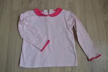 Růžové puntíkované tričko s límečkem, marks & spencer,104