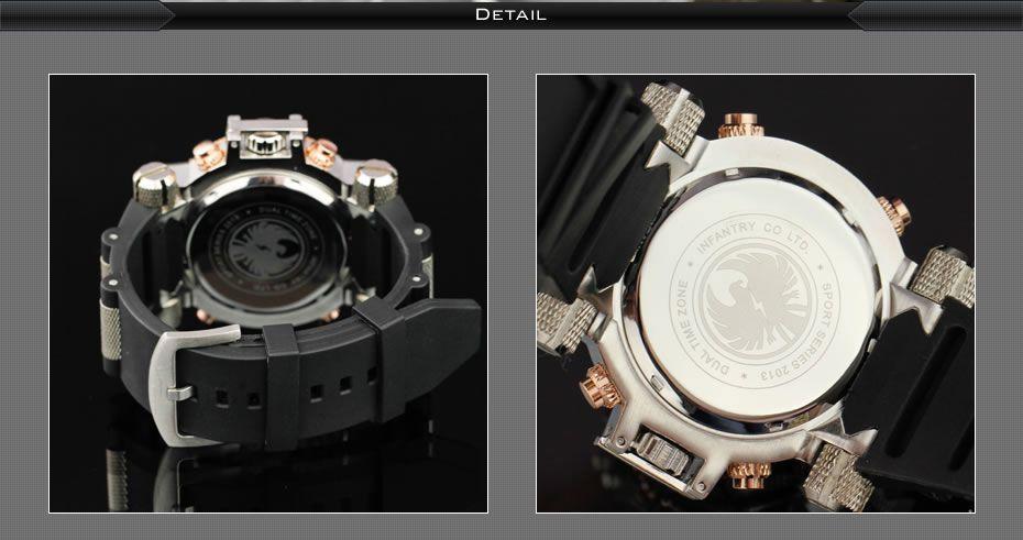 Pánské luxusní značkové hodinky infantry army gold a49c6c32ec