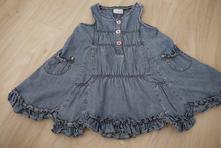 Džínové šaty, next,80