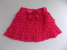 Růžová sukně s mašličkou - george - vel. 80/86, george,80