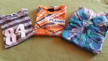 Trička 3 ks- letedlo, s číslicí, košilo-tričko 2v1, tcm,110