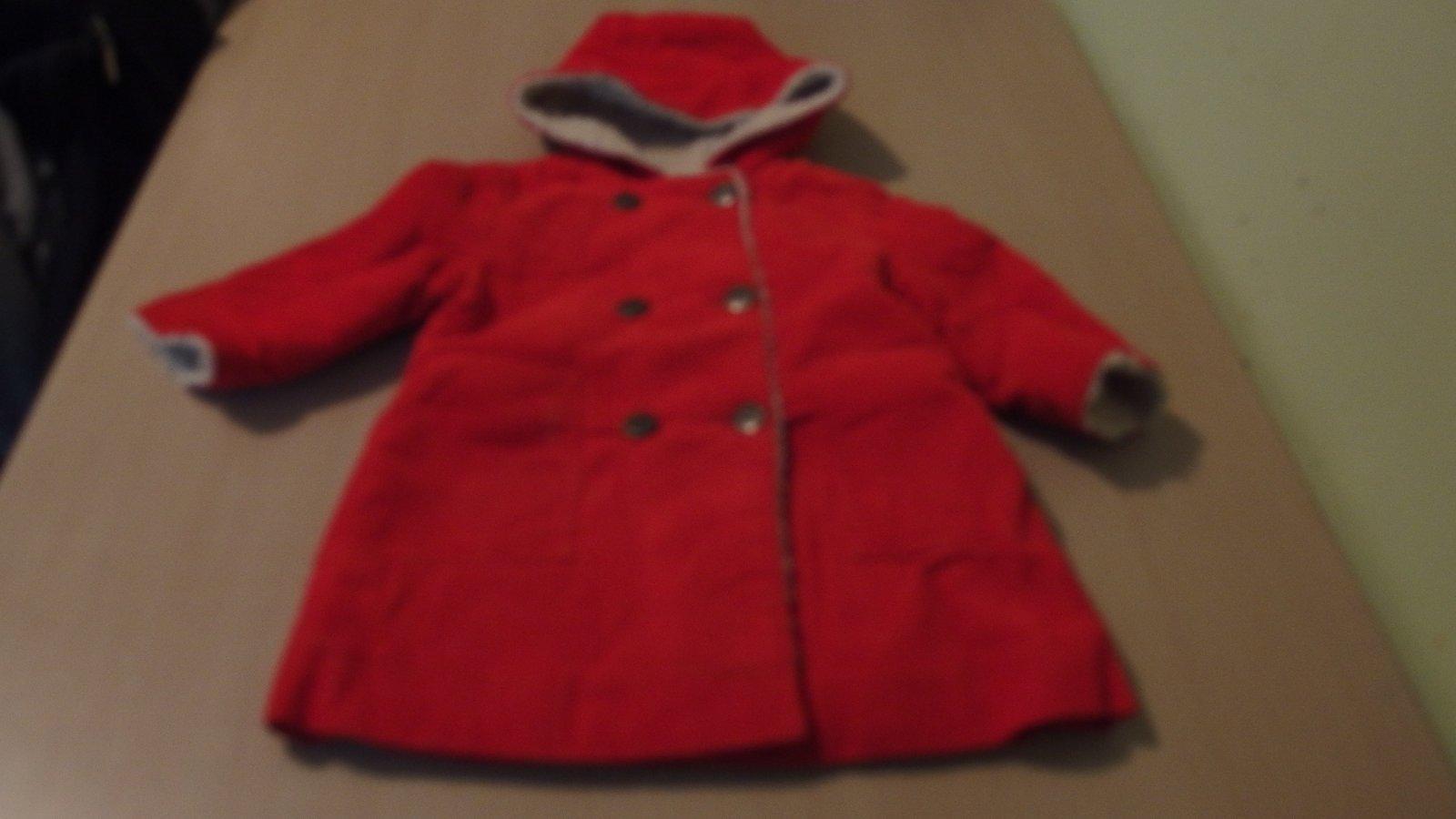 Červený kabát s kapucí 68 74 0a77712635