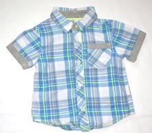 Košile s kr. rukávem vel. 6 - 9m, matalan,74