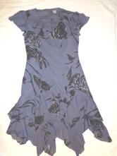 Luxusní fialkové šaty s květama - cípaté - uk 14, 42 / l