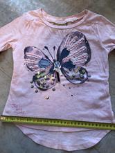 Triko next 3-4roky 104cm motýl třpyt růžová flitry, next,104