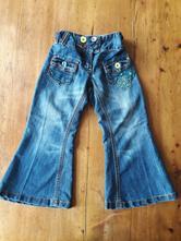 Dívčí džínové kalhoty do zvonu, next,104