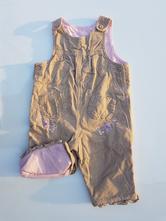 B171dívčí manšestrové laclové kalhoty, 68