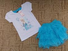 Tričko + sukně elsa z ledového království-140, 98 - 140