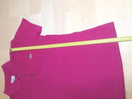 Tričko s límečkem růžové, lacoste,38