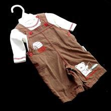 Laclové kalhoty s tričkem,sou-0067-03, 62 / 68 / 80