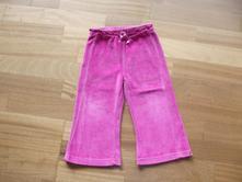 Růžové sametové tepláčky/tepláky vel. 2-3 roky, george,98