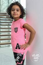 Růžové neon tričko s kamínky, 98 - 152