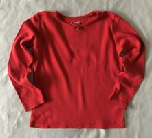 Vel. 98 červené triko s dlouhým rukávem, next,104
