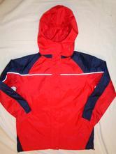 Luxusní červenomodrá šusťáková bunda - podšitá, crivit,140