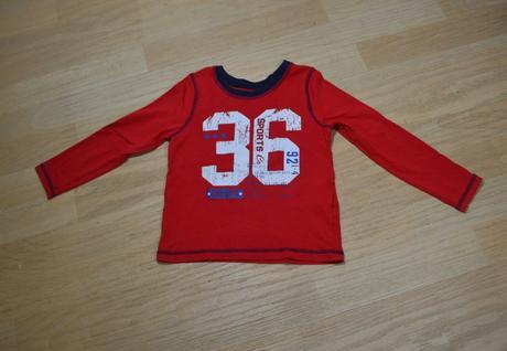 Tričko s dl. červené 36, george,104