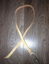 Béžový kožený pásek,