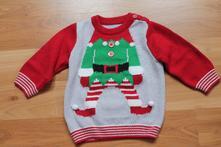 Vánoční svetr s elfem 74/80, 74