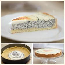 Pruhovaný tvarohovo-makový koláč