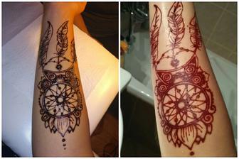 Henna pred a po omytim :)