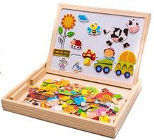 Dřevěná oboustranná tabulka s magnety,