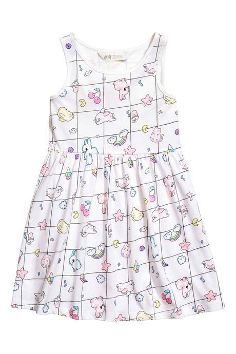 Vzorované šaty h&m, různé velikosti, h&m,110 - 140