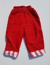 C19dívčí /chlapecké zateplené manžestrové kalhoty, 74