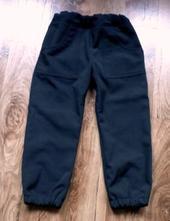 Flísem podšité softshellové kalhoty,top stav, 116