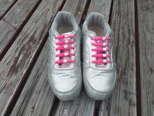 Tenisky pro holky - stříbrné, vel. 36, 36