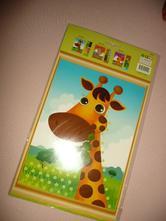 Žirafa vystřihovánky a samopelky,