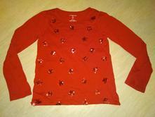 Červené triko a mikina 116/122, 116