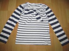 Pruhované tričko s mašlí, next,110
