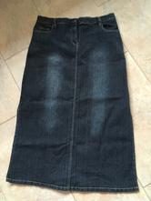 Dámská dlouhá džínová, riflová sukně, xxl