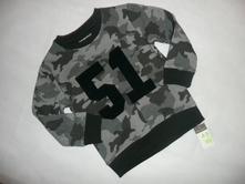 Mikina maskáč army vel 110 4/5 let, primark,110