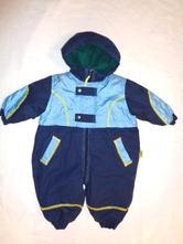 Super zimní teploučká modrá kombinéza, baby club,74