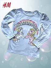 Pěkné tričko my little pony vel 98/104, h&m,98