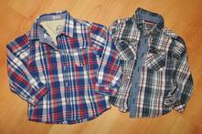 2x plátěná košile vel 12-18 měs/vel 86, 86
