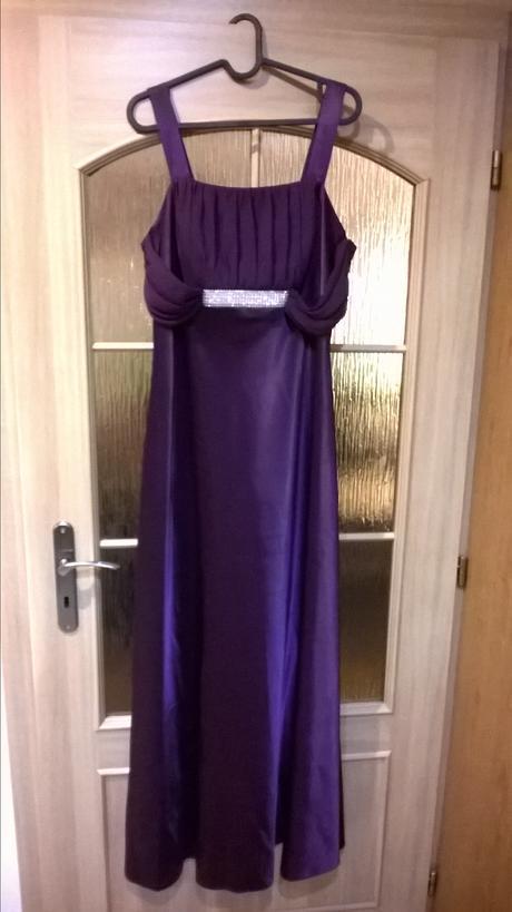 Plesové šaty-fialový satén, 44