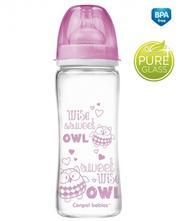 Skleněná lahvička 330ml canpol babies, 3 barvy,